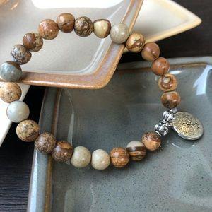 Jewelry - 🆕🆕🆕✨PICTURE JASPER BRACELET W/CHARM 8mm✨
